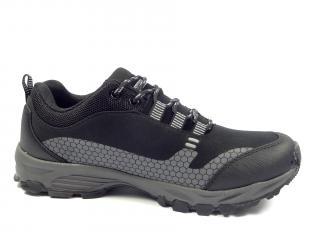 038 M černo šedá softshellová obuv