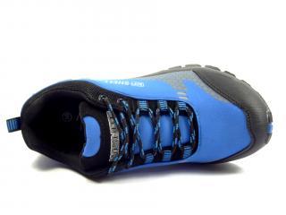 038 D modrá softshellová obuv