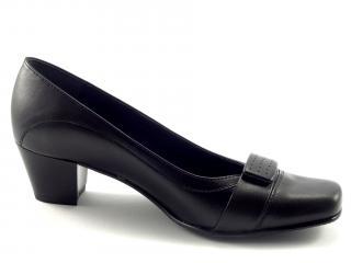 Lodičky Aurelia černé,nižší podpatek