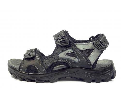 John Wishot černý sandál s šedou 176
