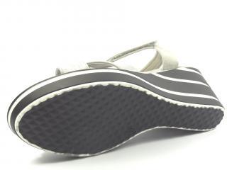 Aurelia šedá letní obuv na klínku