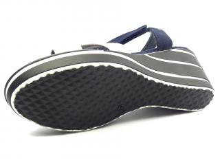 Aurelia navy letní obuv na klínku