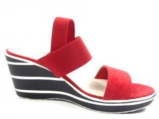 Aurelia red letní obuv na klínku