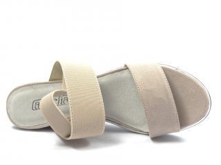Aurelia beige letní obuv na klínku