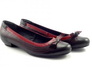 Balerína Aurelia černo-červená