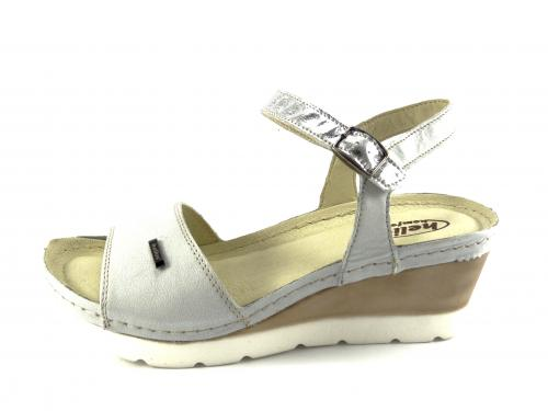 Helios letní obuv na klínku šedá 220