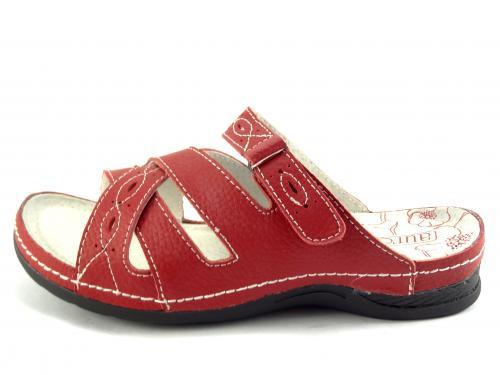 Aurelia červené pantofle LR52341
