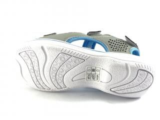 DK sandále šedé s modrou HF08
