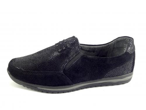 DK černá kožená balerína 160083